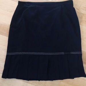 Plus SizeDress Barn Pencil Skirt w/Pleated Hemline